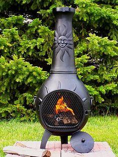 DeckMate Corona Outdoor Chimenea Fireplace - Fire Pit Ideas ...