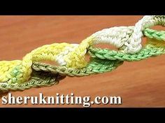 How to Crochet 3D Braid Lace Cord Tutorial 5 - YouTube