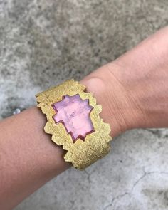 @grimajewellery: Yellow gold and pink tourmaline 'Greenland' watch from Andrew Grima's