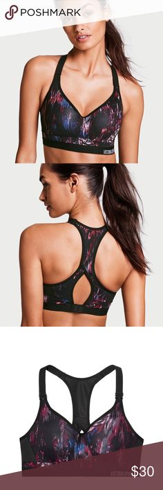 Victoria's Secret Incredible Sports Bra This is a brand new, with tags, Incredible Sports Bra from Victoria's Secret. Maximum support Breathable padding with wicking liner to keep you extra dry. Flexible underwire for maximum comfort Bonded, fully adjustable straps Seamless technology that eliminates irritation Supersoft elastic band for comfort & movement Cushioned, adjustable back closureLarge keyhole racerback for easy on, off Perfect for running, boxing and cardio Body-Wick keeps you…