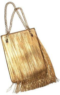 Givenchy Gold Fringe Bag #holiday #bloom