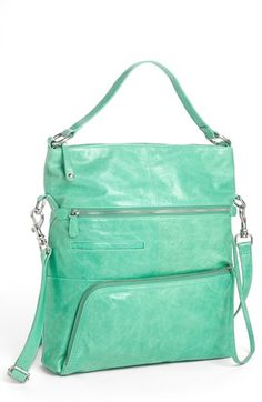 $348, Quinn Leather Satchel Mint by Hobo. Sold by Nordstrom. Click for more info: http://lookastic.com/women/shop_items/122131/redirect