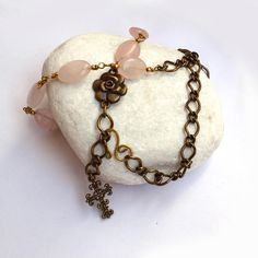 Catholic rosary, gemstone rosary, chain necklace, mom gifts, first communion gift, Gift for Godmother, catholic jewelry, Goddaughter Jewelry