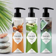Bath foam label design