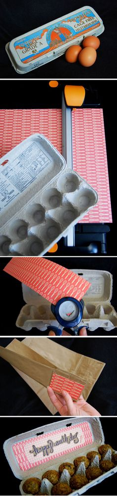 mini cakes in a egg carton