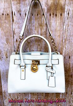 1a899c023b5e Michael Kors white leather handbag....$205 Only at Clothes Mentor Palm  Harbor!!