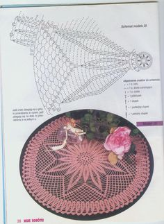 "Photo from album ""Moje robotki on Yandex. Filet Crochet, Crochet Doily Diagram, Crochet Motif, Diy Crafts Crochet, Crochet Art, Thread Crochet, Crochet Projects, Crochet Stitches Patterns, Crochet Designs"