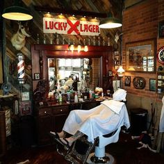 "this-old-stomping-ground: "" and his weekly ritual. Barber Store, Best Barber Shop, Barber Shop Decor, Barbershop Design, Barbershop Ideas, Blind Barber, Barber Apron, Barber Chair, Shop Around"