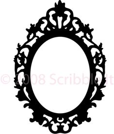 Vintage Oval Frame Wall Decal by ScribbleIt on Etsy