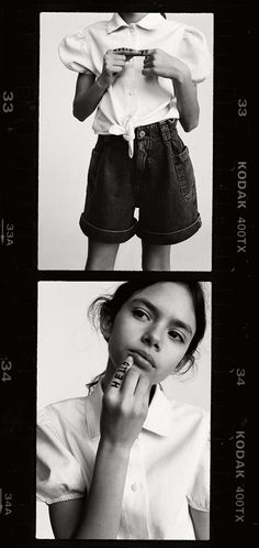 ZARA - #zaraeditorial - STORIES - DENIM BLACK&WHITE Zara United States, Black Denim, Kids Boys, Shirt Sleeves, Kids Fashion, Denim Shorts, Ruffle Blouse, Photoshoot, Poses