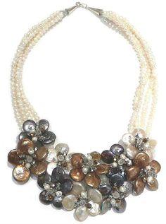 #necklace #jewelry FIORI DI PERLE - AG/22