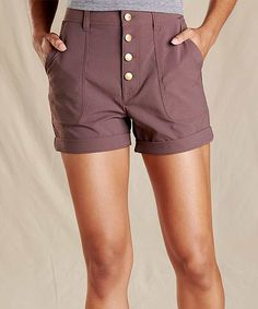 Toad&Co Raisin Rover High Rise Shorts - Women Woman Back, High Rise Shorts, Toad, Raisin, Casual Shorts, Pride, Short Dresses, How To Wear, Women