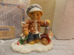 Cherished Teddies 'Rich' Always Paws for Holiday Treats  352721 Mint 1998