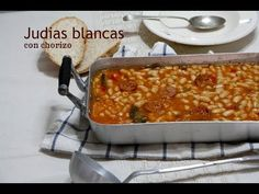 Judias Blancas con chorizo - Recetas de cocina fáciles - YouTube