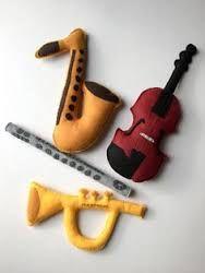 Resultado de imagem para instrumentos musicais de feltro