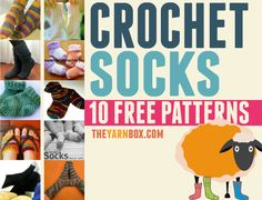 10 Free Crochet Sock Patterns