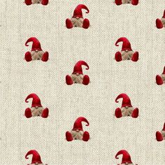 Q4xDjIfc Christmas Fabric, Christmas Elf, Cotton Linen, Printed Cotton, Cotton Fabric, Gingerbread Man, Natural Linen, Cushion Covers, Fabric Design