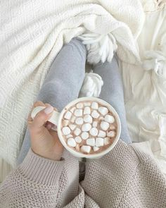 Cozy up with hot cocoa //