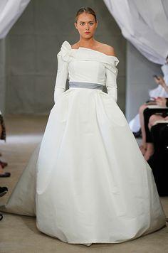 Carolina Herrera wedding dress with sleeves, Spring 2013