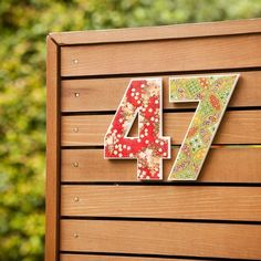 Creative Ideas for Displaying Your Home Address - DIY House Numbers - Tuesday {ten} - bystephanielynn