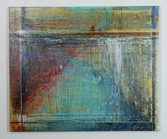 Strata - Original Painting Mixed Media on Canvas by John Richardson, $695.00