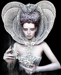 "The White Queen from Kirsty Mitchell's stunning narrative photography gallery, ""Wonderland"". Fabulous photographer with entrancing images and a the most creative imagination ever."