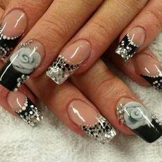 Silver Nail Designs, Silver Nails, Best Acrylic Nails, Coffin Nails, Salons, Bradford, Beauty, Beautiful, Silver Nail