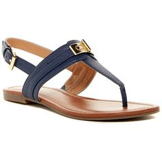 9fdd6444aa40a Tommy Hilfiger Sancia T-Strap Sandal (398.810 IDR) ❤ liked on Polyvore  featuring