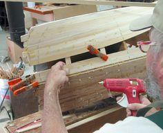 Kayak, and Canoe building, Woodstrip Tricks, Hot Glue, Stapleless Stripping,