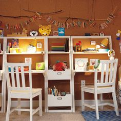 Kids' Desk: Kids White Leaning Wall Bookcase   The Land of Nod                                                                                                                                                     More