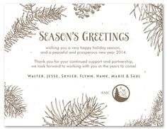 Frosty (plantable)   Business holiday cards and Xmas
