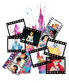"""Princesses on frames"" by keziasilitonga on Polyvore featuring art"
