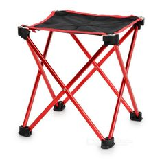 Ultra Light Aluminum Alloy Outdoor Foldable Square Fishing Chair / Camping Stool (Size L) From 17,95 for Euro 13,95