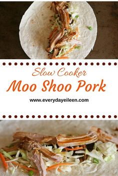 Slow cooker moo shoo pork