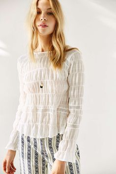 Stevie May Cat Long Sleeve Top - Urban Outfitters