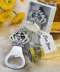 Crown design bottle opener favors