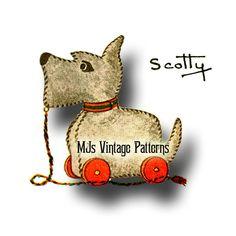 Vintage Pull Toy Pattern ~ Scottie or Scotty Dog