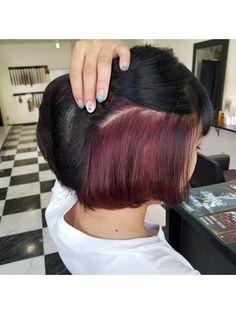 ヘアーサロン エム(hair salon M) ワンレンボブ インナーカラー