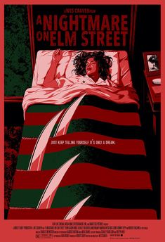 10 Atmospheric Horror Movies You Need To Watch. Poster of the movie A Nightmare … 10 Atmospheric Horror Movies You Need To Watch. Poster of the movie A Nightmare on Elm Street. 80s Movie Posters, Horror Movie Posters, Cinema Posters, Movie Poster Art, Poster Series, Classic Movie Posters, Halloween Movies, Scary Movies, 80s Movies