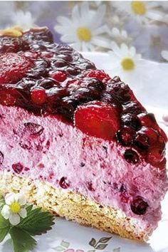 Hansen-Jensen-Torte – Was esse ich Heute? Summer Dessert Recipes, Dessert Cake Recipes, Easy No Bake Desserts, Fancy Desserts, Easy Cake Recipes, Healthy Desserts, Pie Recipes, Berry Cheesecake, Cheesecake Recipes