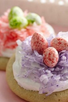♔ Easter Nest Cookies