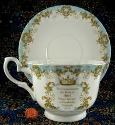 Prince George Tea Cup ~ Antiques And Teacups: Tuesday Cuppa Tea Happy Birthday Prince George Rocky Mountaineer Pt 2