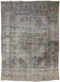 Distressed Antique Lavar Kermon Persian Width: 9 in.Length: 3 in. Hand Knotted Rugs, Woven Rug, Lava, Indian Rugs, Transitional Rugs, Weaving Art, Rug Cleaning, Rugs Online, Modern Rugs