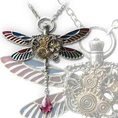 Steampunk Dragonfly Gears Necklace by Alchemy Gothic, http://www.amazon.com/dp/B004THMEZE/ref=cm_sw_r_pi_dp_q3eerb0AZCVMG