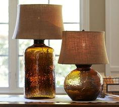 Clift Glass Table Lamp Base - Espresso | Pottery Barn