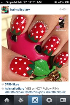 Cute and easy nails art