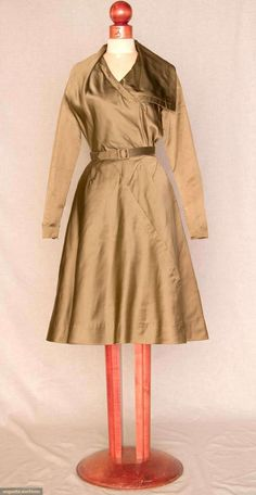 Jacques Fath Silk Dinner Dress, 1953, Augusta Auctions, November 10, 2010 - St. Pauls - NYC, Lot 331