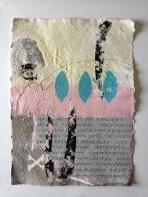 Summertime Papiercollage, handgeschöpft Bettina Bradt