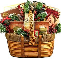 Amazon.com : A Grander Celebration Gourmet Food Holiday Gift Basket - Size Medium : Grocery & Gourmet Food