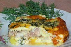 Запеканка с курочкой в яично-сырной заливке